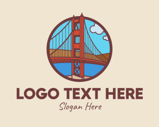 Golden Gate - San Francisco Bay Bridge logo design