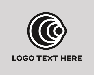 Zoom - Black Lens logo design