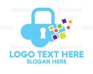 Multicolor - Multicolor Cloud Lock logo design