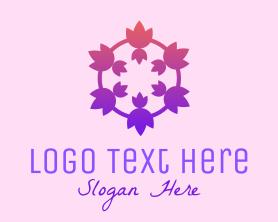 Medical - Tulip Flower Crown logo design