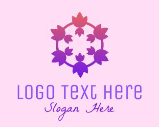 Women Empowerment - Tulip Flower Crown logo design