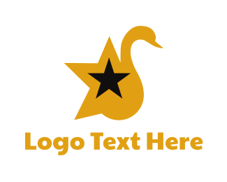 Goose - Star Swan logo design