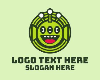 Joy - Tree Eye Alien logo design