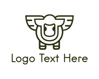 Fly - Flying Lamb logo design