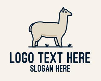 Furry - White Alpaca logo design
