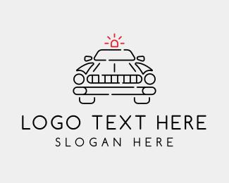 Sedan - Minimalist Police Car logo design