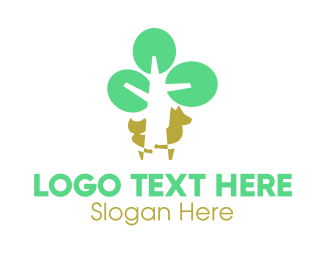Animals - Playing Tree Animals logo design
