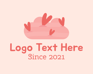 Romantic - Romantic Heart Cloud  logo design