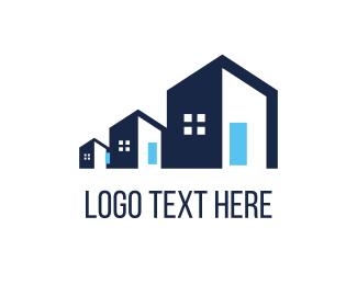 Scale - Blue  Property logo design