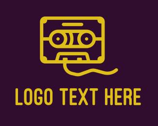 Recording - Retro Cassette Tape logo design