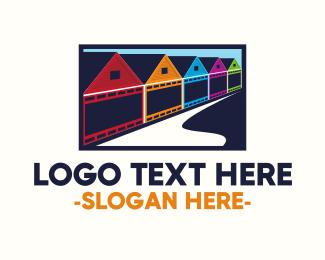 Town - Colorful Neighborhood logo design