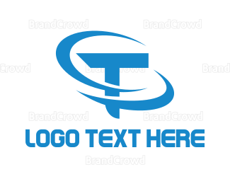 Ring - Blue T Ring logo design