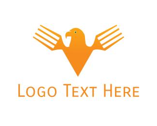 Fork - Fork Eagle logo design