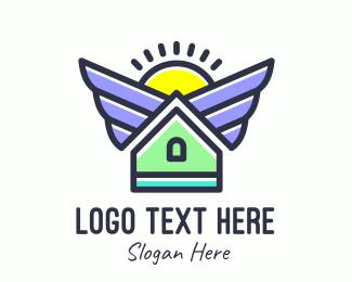 Infrastrusture - Urban Housing Realty logo design