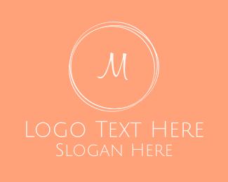 Peach - Peach Minimalist Lettermark logo design