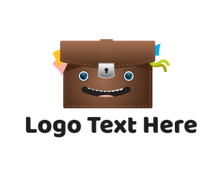 Suitcase - Happy Bag logo design