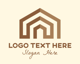 Home Lease - Brown Abstract Home logo design