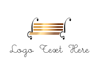 Seat - Park Bench logo design