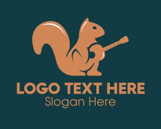 Squirrel - Squirrel Music Guitar logo design