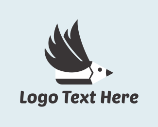 Bird - Pencil Bird logo design