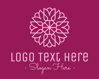Marigold - Decorative Elegant Pink Flower logo design