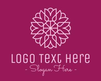 Decorative - Decorative Elegant Pink Flower logo design