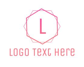 Free - Pink Minimalist logo design