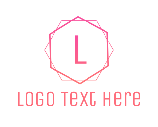 Pink Hexagon - Pink Minimalist logo design