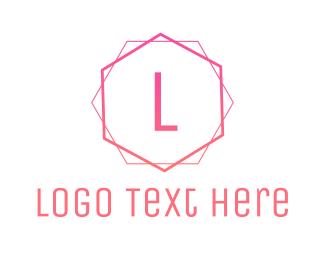 Free Pink Minimalist Logo