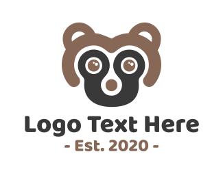 Rodent - Minimalist Cute Skunk logo design