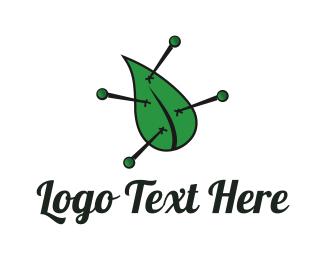 Acupuncture - Natural Voodoo logo design