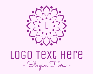 Marigold - Decorative Elegant Flower logo design