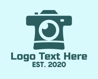 Film Camera - Blue Instant Camera logo design