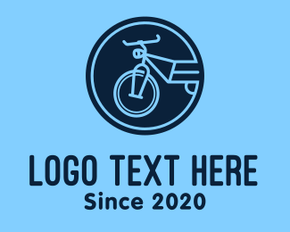 Bike Club - Blue Bike Circle logo design