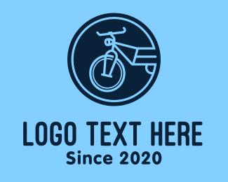 Bike - Blue Bike Circle logo design