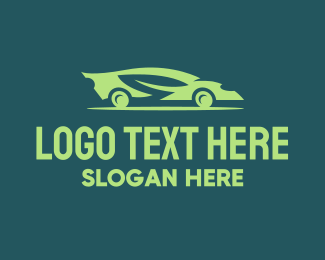 Drive - Green Eco Car Automotive logo design
