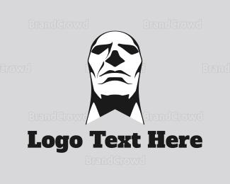 Burning Man - Man Face logo design