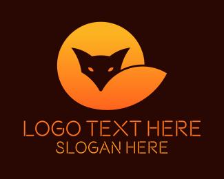 Cyber Cafe - Gradient Fox Tech Startup logo design