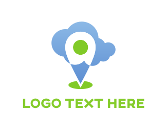 Pin - Cloud Pin logo design