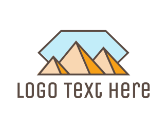 Middle East - Pyramid Mountain Peak logo design
