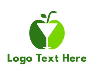 Green Apple - Green Apple Cocktail logo design