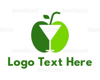 Cocktail - Green Apple Cocktail logo design