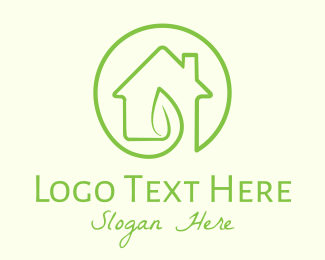 Home Garden - Green Eco Home logo design