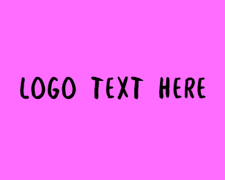 Hand Drawn - Hot Pink Graffiti Wordmark Text Font logo design