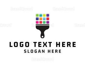 Bitmap - Bit Brush logo design