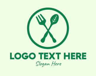 Eating - Vegan Organic Resto logo design