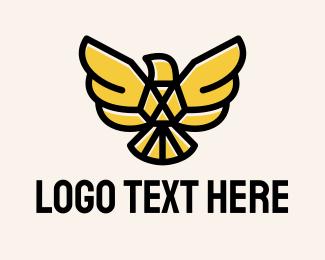 Simple - Corporate Gold Eagle logo design