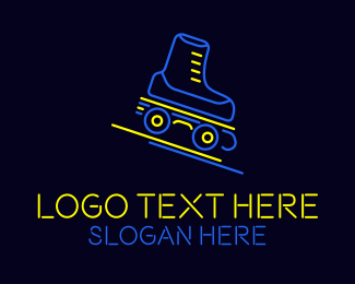 Skate - Neon Skate Track logo design