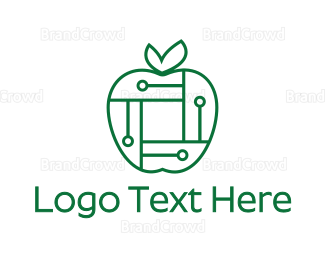 Binary - Digital Apple logo design