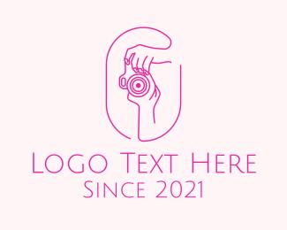 Photograph - Pink Camera Photographer logo design